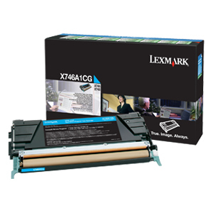 Cyan Toner Cartridge For X746 X748 Return Program / Mfr. No.: X746a1cg
