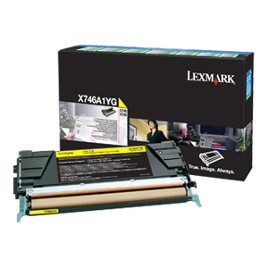 Yellow Toner Cartridge For X746 X748 Return Program / Mfr. no.: X746A1YG