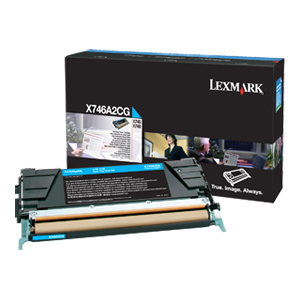 X746 X748 Cyan Toner Cartridge / Mfr. no.: X746A2CG