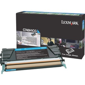Cyan Toner Cartridge For C748 High Yield Return Program / Mfr. No.: C748h1cg