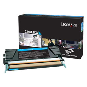 Cyan Toner Cartridge For C746 C748 / Mfr. No.: C746a2cg