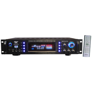 PylePro 3000 Watts Hybrid Pre Amplifier w/ AM/FM Tuner/ USB