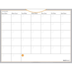 "AT-A-GLANCE® WallMates Self-Adhesive Dry Erase Monthly Planner 18"" x 24"""