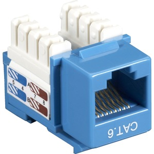 10pk Cat6 Blue Keystone Jack Value Line / Mfr. No.: Cat6j-Bl-10pak