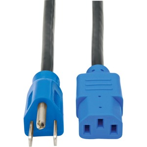 Tripp Lite 4ft Color-Coded Standard 125V AC Power Cord 5-15P to IEC-320-C13 - Blue / Mfr. no.: P006-004-BL