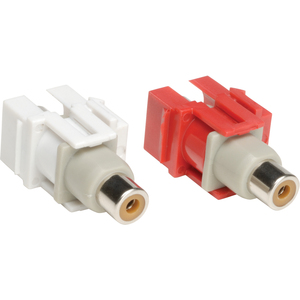 Audio Keystone Snap-In Module Kit Rca Couplers Red White / Mfr. no.: A050-000-KJ