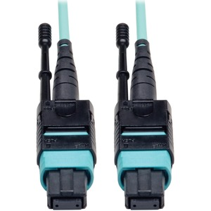 33ft 1m Fiber Mtp/Mtp Aqua Mpo Patch Cable 12 40gbe Om3 Pl / Mfr. No.: N844-01m-12-P