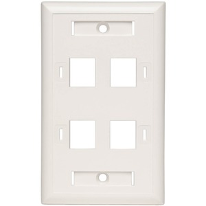 4port Keystone Faceplate For Cat6 Cat5e Keystone Jacks TAA G / Mfr. No.: N042-001-04-Wh