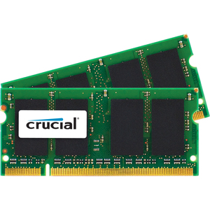 4gb Kit 2x2gb Ddr2 800mhz Pc2-6400 For Mac Cl6 Sodimm 200 / Mfr. no.: CT2K2G2S800M