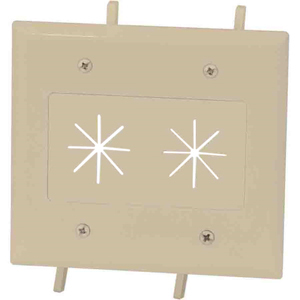 Cable Plate Flex Opening 2-G Iv Easy Mount Series Ivory / Mfr. no.: 45-0015-IV