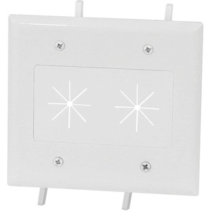 Cable Plate Flex Opening 2-G Wh Easy Mount Series White / Mfr. No.: 45-0015-Wh