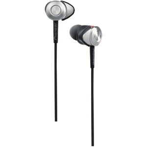 Pioneer Closed Dynamic Headphones with Flex Nozzle (100mW, Silver)