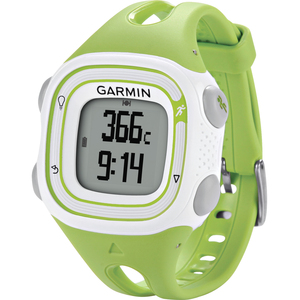 Garmin erunner GPS Watch 10 Green & White 010-01039-01