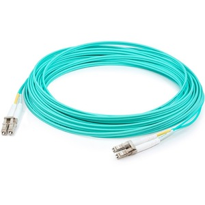 1m Lomm Om4 Fiber Optic Male Lc/Lc 50/125 Duplex Aqua Cable / Mfr. No.: Add-Lc-Lc-1m5om4