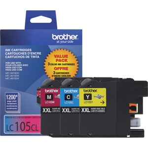 Brother® Inkjet Cartridges Super High Yield LC105CLXXL Colour 3/pkg