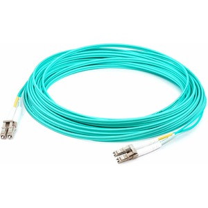 AddOn 0.5m Laser-Optimized Multi-Mode fiber (LOMM) Duplex LC/LC OM3 Aqua Patch Cable