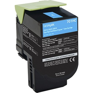 701hc Cyan High Yield Return Program Toner Cartridge / Mfr. No.: 70c1hc0