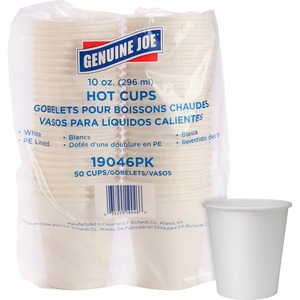 Solo® Poly Paper Cups 10 oz Squat White 50/pkg