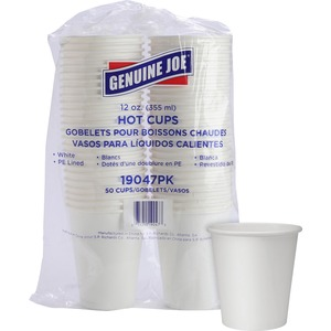 Solo® Poly Paper Cups 12 oz White 50/pkg