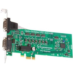 Brainboxes PCIe 2xRS422/485 1MBaud Opto Isolated