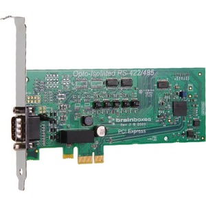 Brainboxes PCIe 1xRS422/485 1MBaud Opto Isolated