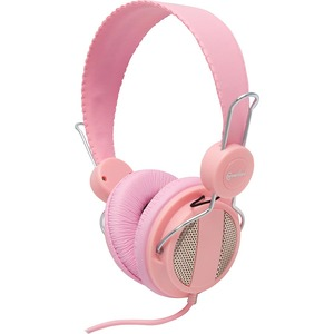 Lightweight Stereo Headset W/Mic For Smartphone Light Pink / Mfr. no.: CL-AUD63024