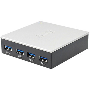4port USB 3.0 Hub With 5v/4a Adapter / Mfr. No.: Ju-H40812-S1