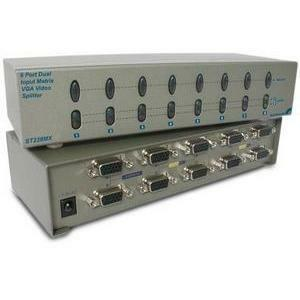 8port Matrix Video Splitter VGA Input Dual / Mfr. No.: St228mx