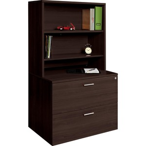 "Offices To Go Ionic Open Hutch 36"" Dark Espresso"