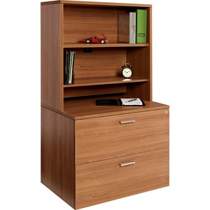 "Offices To Go Ionic Open Hutch 36"" Winter Cherry"