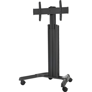 Adjustable Mobile Cart Built In Cable Managament Black / Mfr. No.: Inf-Mobcartpro-B