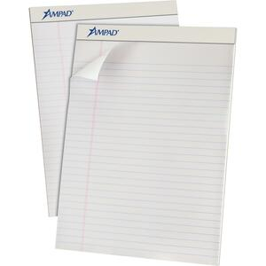 """Ampad Perforated Pad Ruled 8-1/2"""" x 11-3/4"""" 50 shts"""
