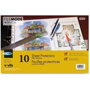 "VLB FileMode Page Protectors 3 mil 11"" x 17"" 10/pkg"