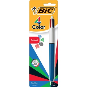Bic® 4 Color Retractable Ball Point Pen Medium Tip Black, Blue, Red and Green