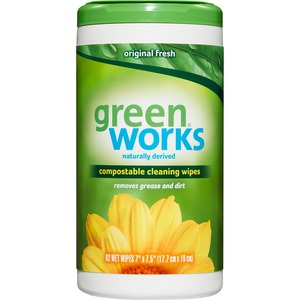 Green Works Cleaning Wipes 62 sheets/tub