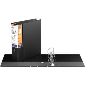 "Davis Group® Deluxe QuickFit® Heavy Duty D-Ring File Binder 3"" Black"