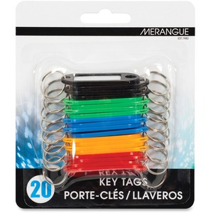 Merangue Key Tags with Insert Assorted Colours 20/pkg