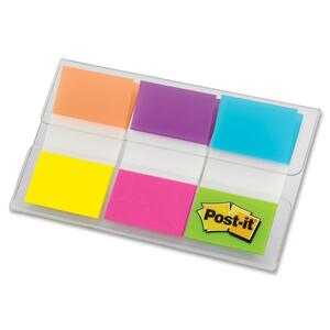 "Post-it® Flags 1"" 20 sheets per pad Electric Glow™ Colours 3 pads/pkg"
