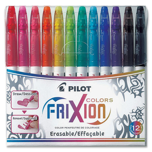 Pilot® FriXion® Colors Erasable Markers Assorted Colours 12/pkg