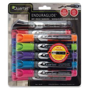 Quartet® EnduraGlide® Dry Erase Markers Chisel Tip Assorted Colours 12/pkg