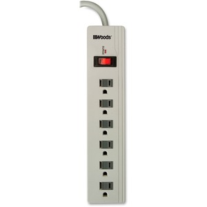 Woods® 6-Outlet Electronics Surge Protector 450 Joules