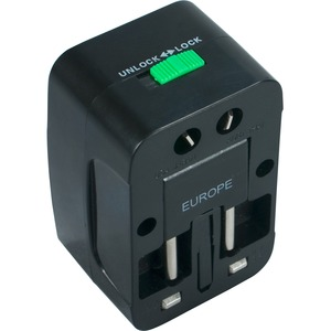 Qvs Premium World Power Travel Adaptor W/Surge Protection / Mfr. No.: Pa-C3