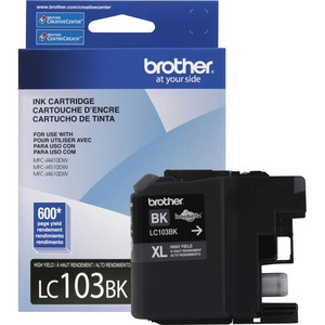 Brother® Inkjet Cartridge High Yield LC103BKXL Black