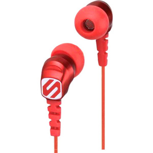Scosche thudBUDS Noise Isolation Earbuds (Red)