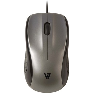 V7 3-Button USB Wired Optical Mouse / Mfr. No.: Mv3010010-Sil-5nb