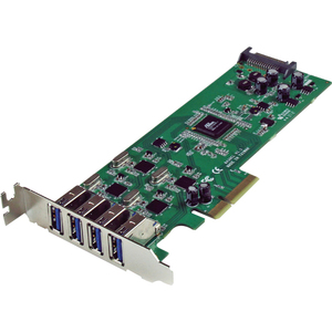4port USB 3.0 PCIe Card W/ SATA Power Lp / Mfr. No.: PexUSB3s400