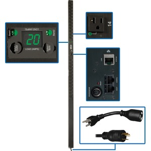 Pdu Switched 120v 20a 5-15/20r 24out L6-30p/5-20p Vertical 0u / Mfr. no.: PDUMVR20NET
