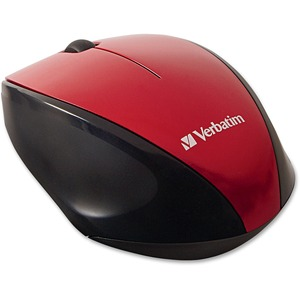 Verbatim Wireless Notebook Multi-Trac Blue LED Mouse - Red / Mfr. No.: 97995