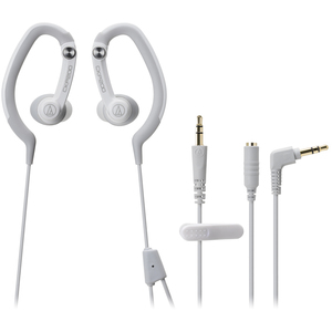Audio Technica Sport Fit In-Ear Hook Style Waterproof Headphones - White / Mfr. No.: Ath-Ckp200wh