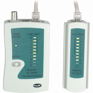 Network Cable Tester For RJ45/Rj11 F/F / Mfr. No.: 4xrj45tester